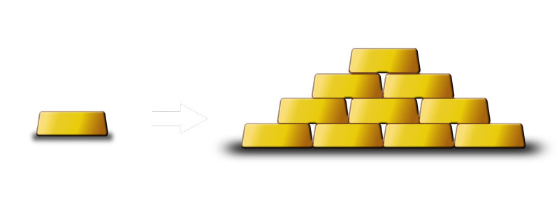 Gold Bar to Indicate return of Investment